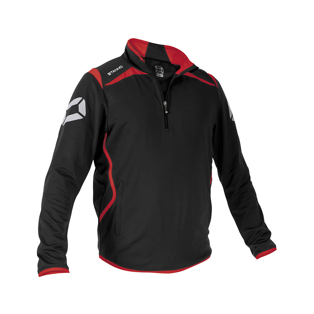Stanno Forza TTS Top Half Zip Black/Red