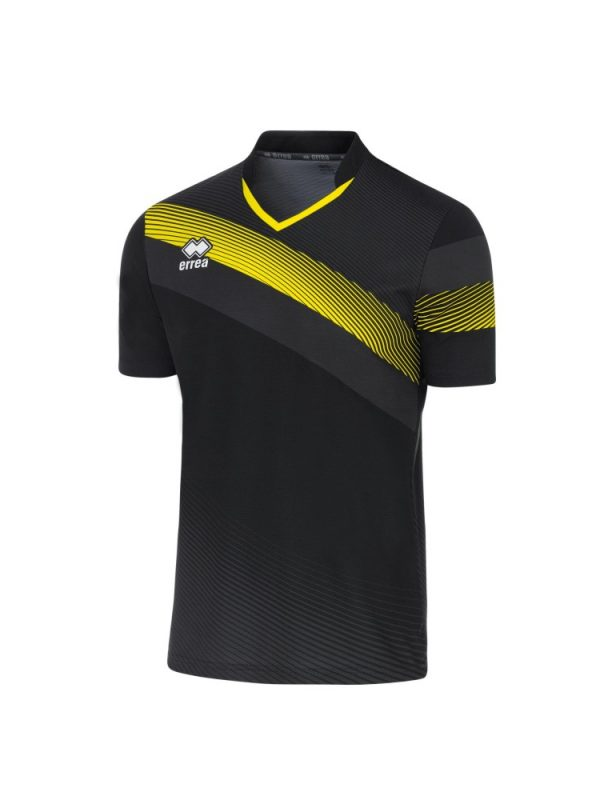 Errea Athens Shirt Short Sleeve Black/Yellow Fluo