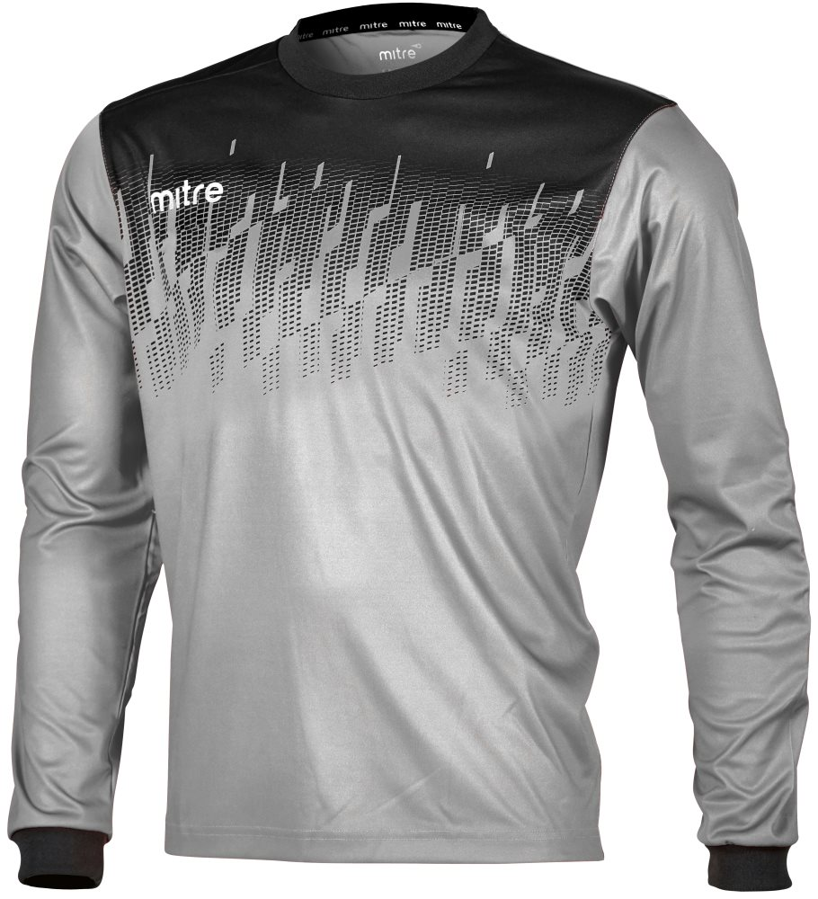 Mitre Command Goalkeeper Shirt Silver/Black