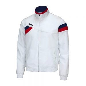 Errea Forset Tracksuit Top White/Navy/Red