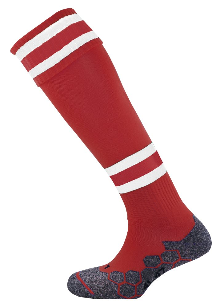 Mitre Division Tec Sock Maroon/White/Maroon