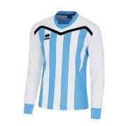 Errea Alben Shirt Long Sleeve White/Sky Blue