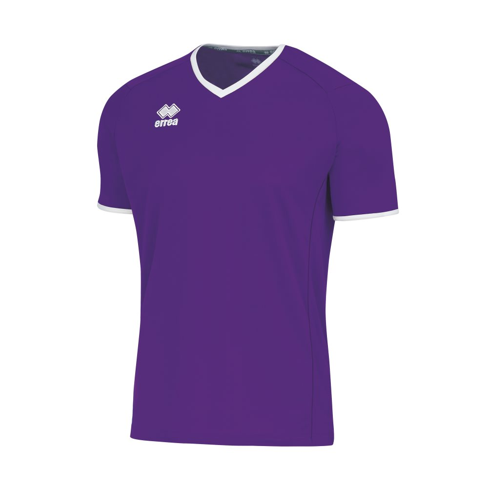 Errea Lennox Shirt Short Sleeve Purple/White