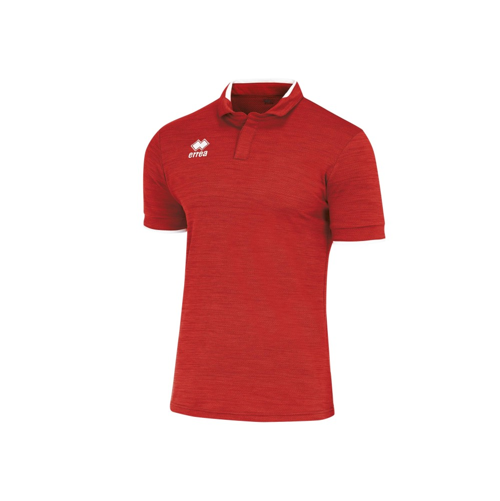 Errea Praga Shirt Short Sleeve Red/White