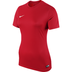 Nike Womens Park Jersey Short Sleeve University Red
