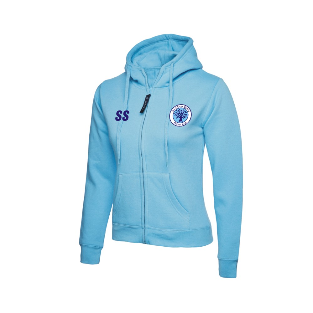 Spelthorne Sports FC Ladies Zip Hoody (Sky Blue)