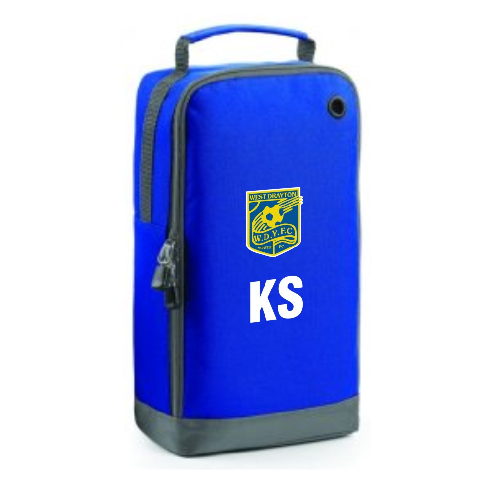 181fd175a3c Official West Drayton Youth FC Boot Bag Royal (Price includes club ...