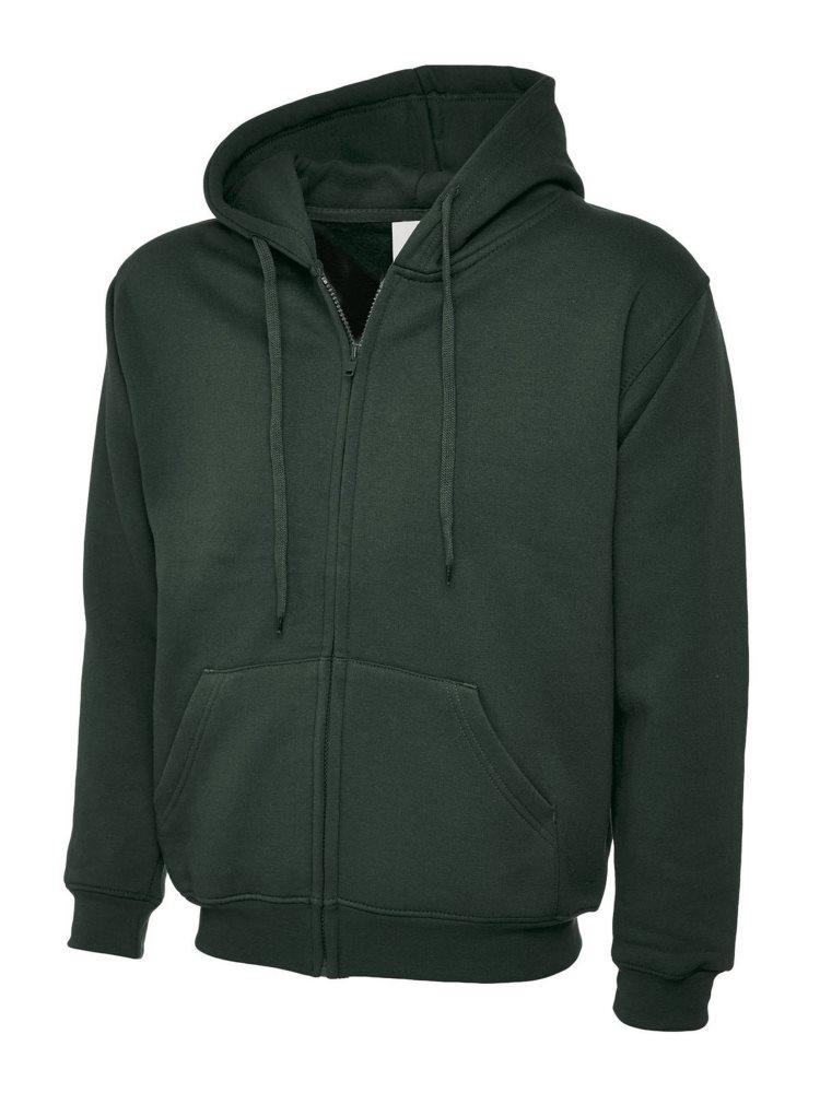 Classic Full Zip Hoody Bottle Green