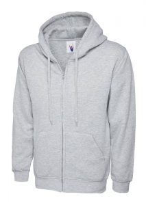 Classic Full Zip Hoody Heather Grey