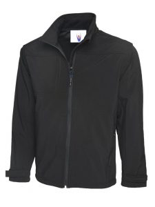 Premium Full Zip Soft Shell Jacket Black