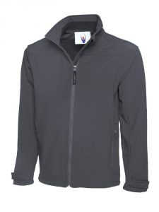 Premium Full Zip Soft Shell Jacket Light Grey