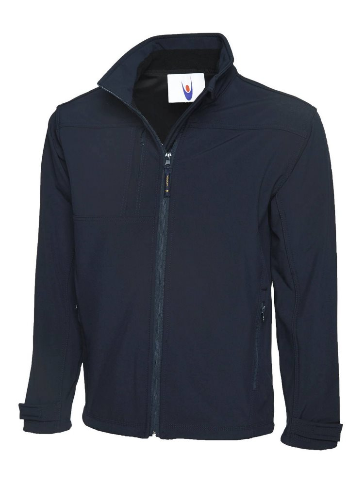 Premium Full Zip Soft Shell Jacket Navy