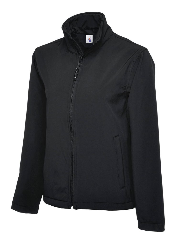 Classic Full Zip Soft Shell Jacket Black