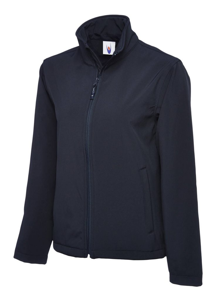 Classic Full Zip Soft Shell Jacket Navy