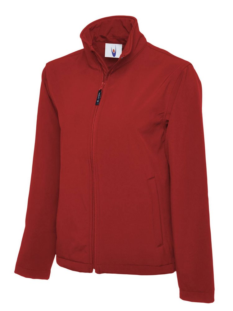 Classic Full Zip Soft Shell Jacket Red