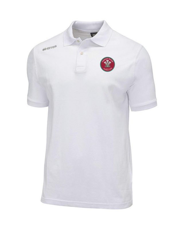 Virginia Water FC Team Colours Polo in White