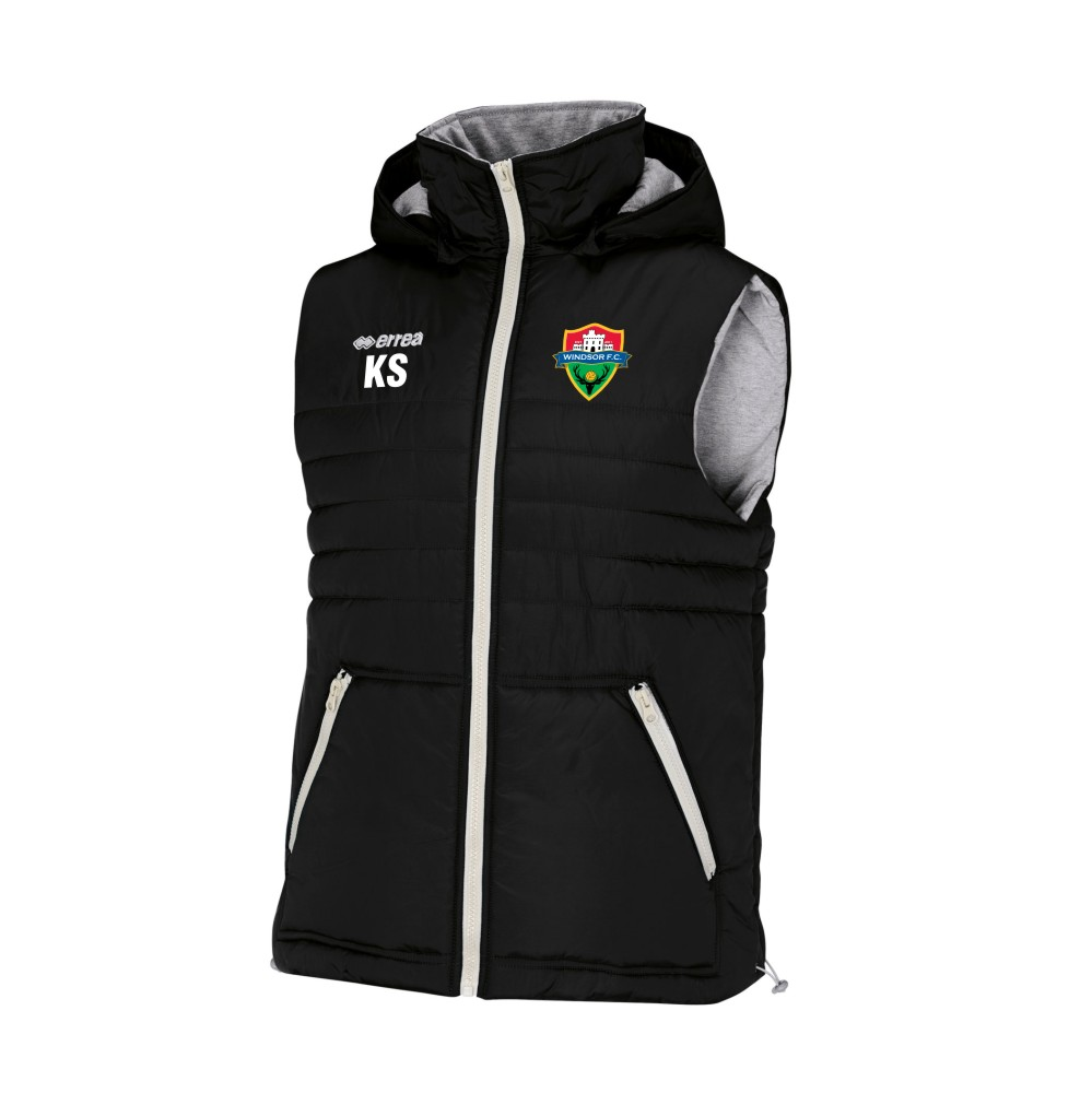 Windsor FC Hybrid Gillet Black with Coloured Badge