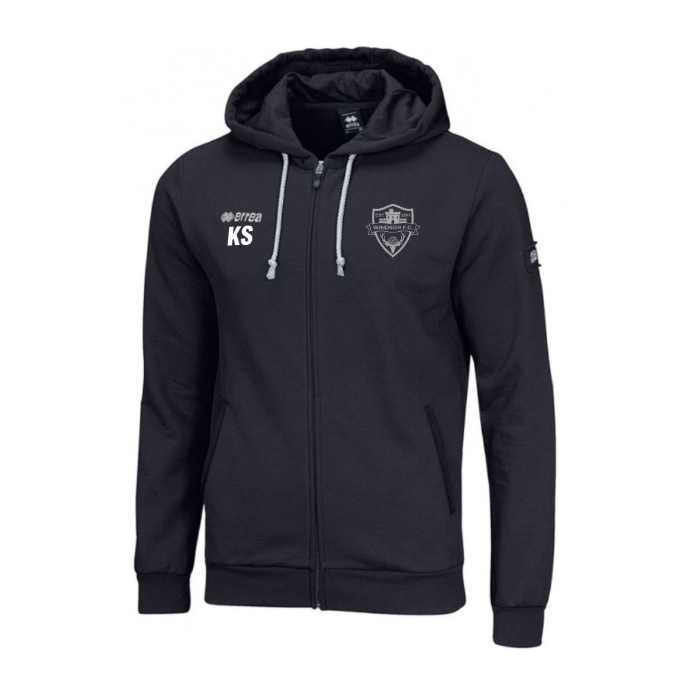 Windsor FC Wire Hoody Black with Silver Badge