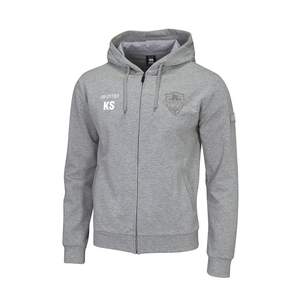Windsor FC Wire Hoody Grey with Silver Badge