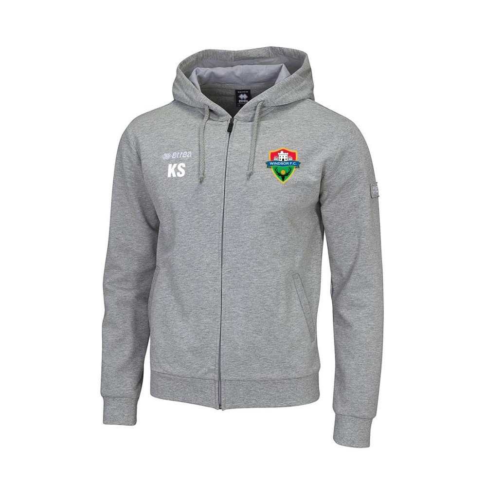 Windsor FC Wire Hoody Grey with Coloured Badge