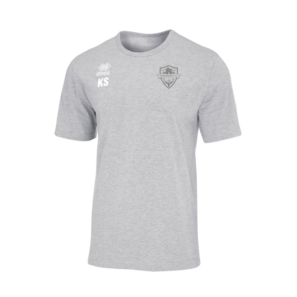 Windsor FC Coven Grey T-Shirt with Silver Badge
