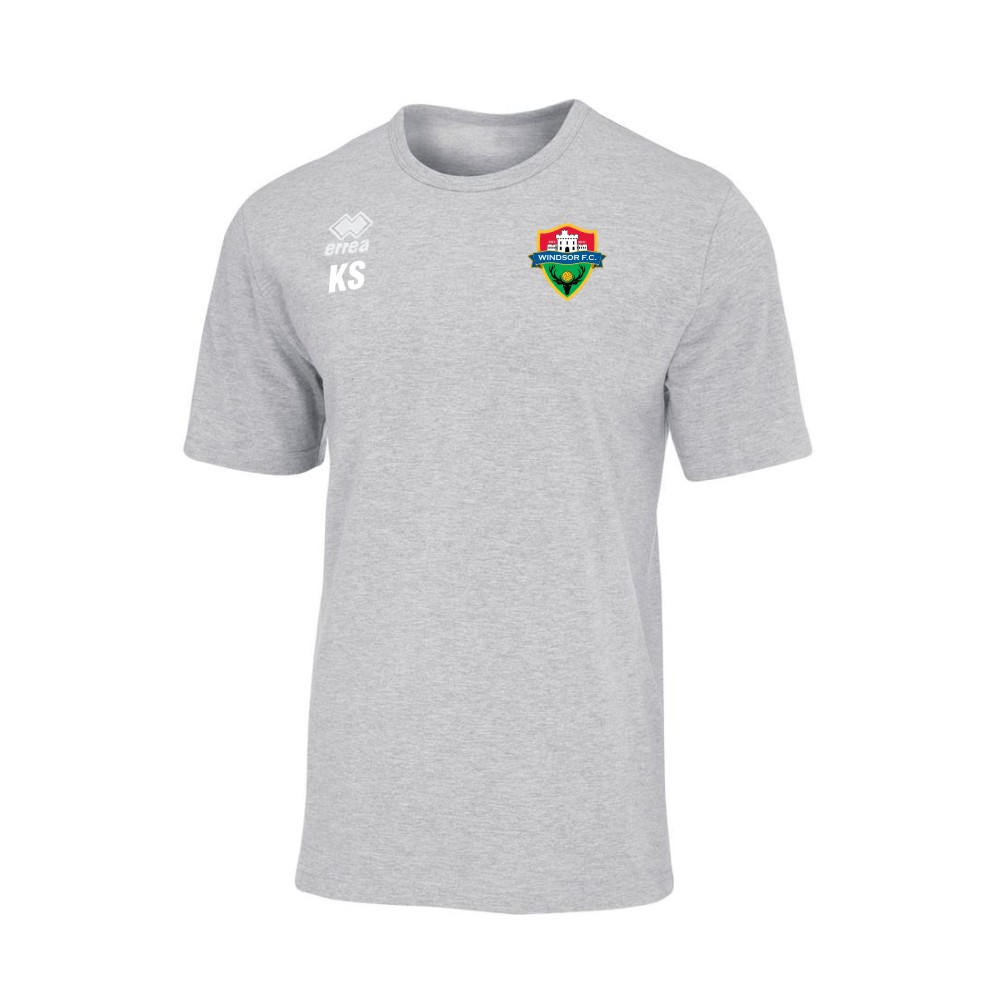 Windsor FC Coven Grey T-Shirt with Coloured Badge