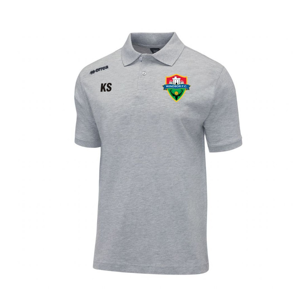 Windsor FC Team Colours Polo in Grey with Coloured Badge