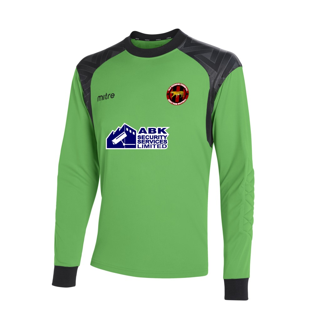 Old Windsor Tigers Mitre Guard Long Sleeve Lime Goal Keeper Shirt