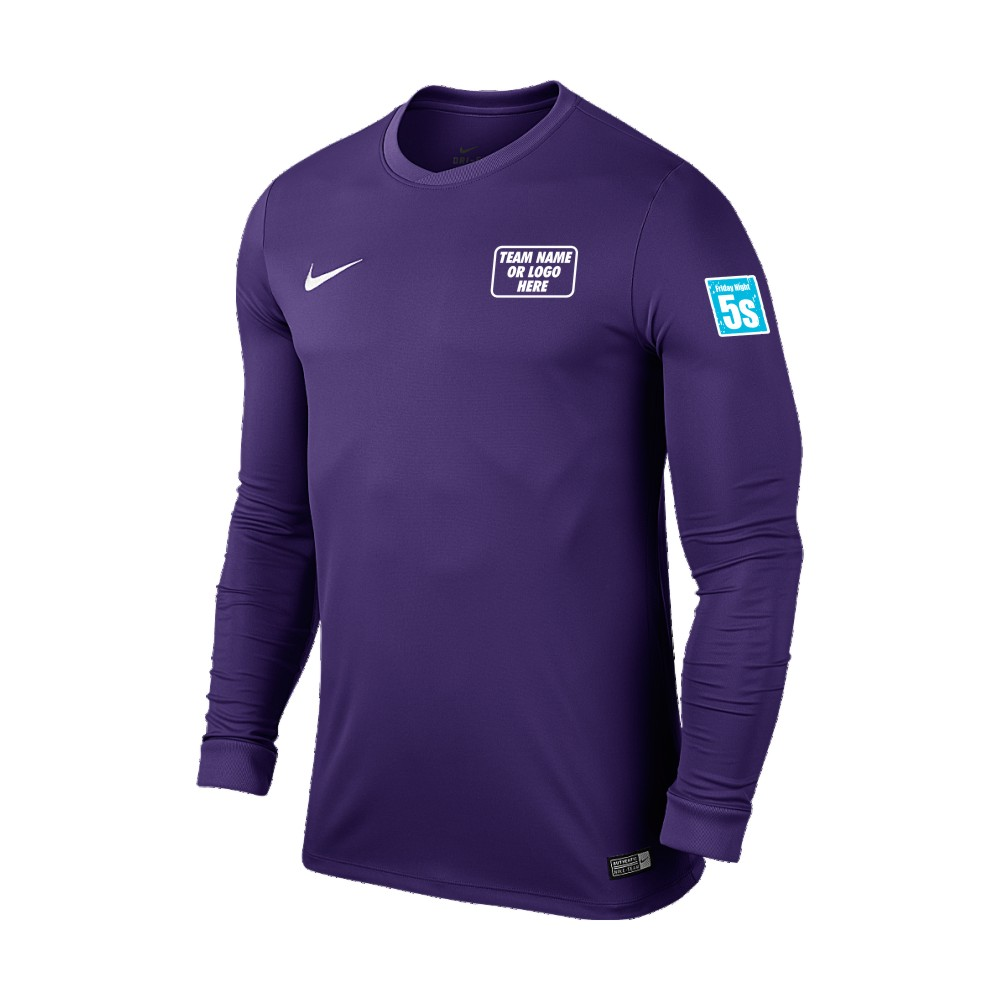 Friday Night 5's Nike Long Sleeve Park Shirt Purple