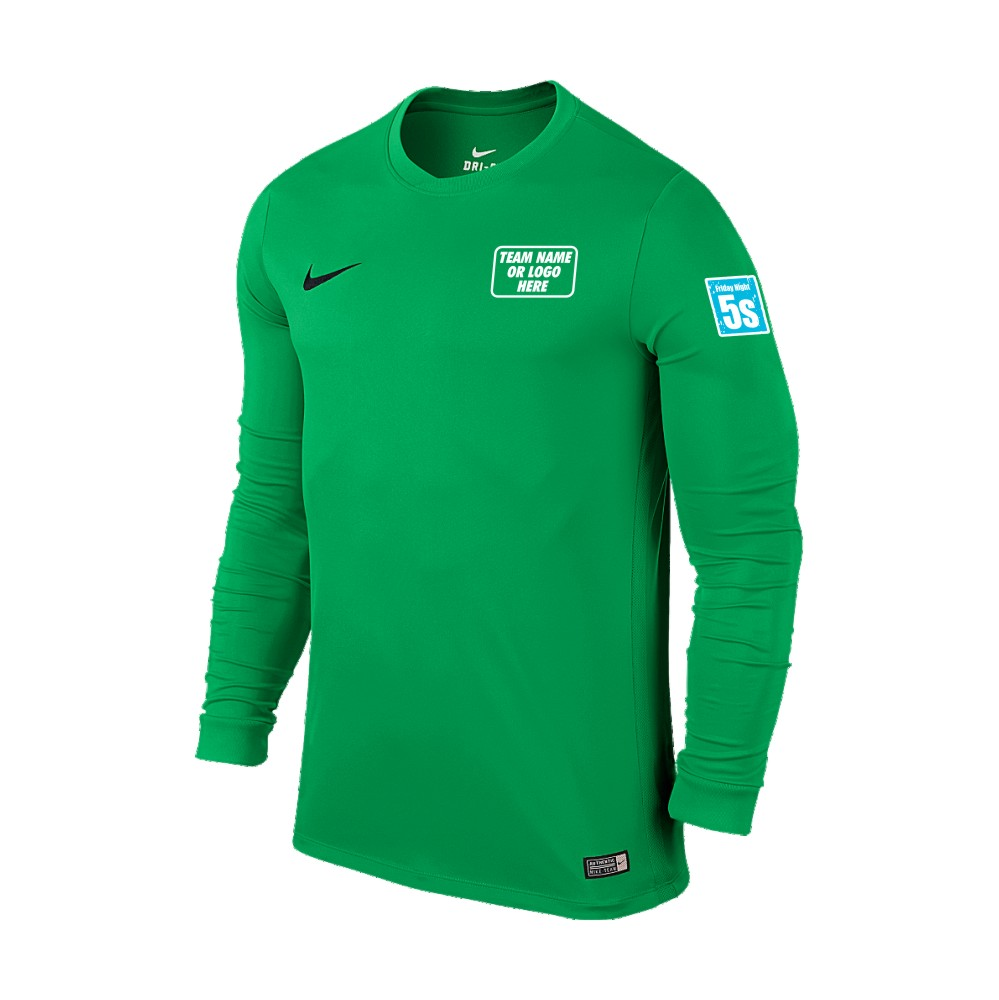Friday Night 5's Nike Long Sleeve Park Shirt Hyper Verde
