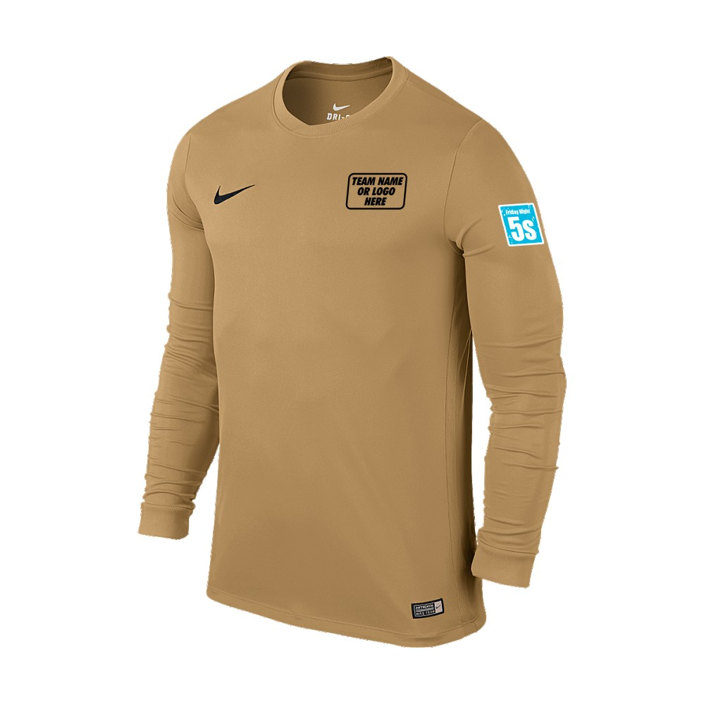 Friday Night 5's Nike Long Sleeve Park Shirt Gold