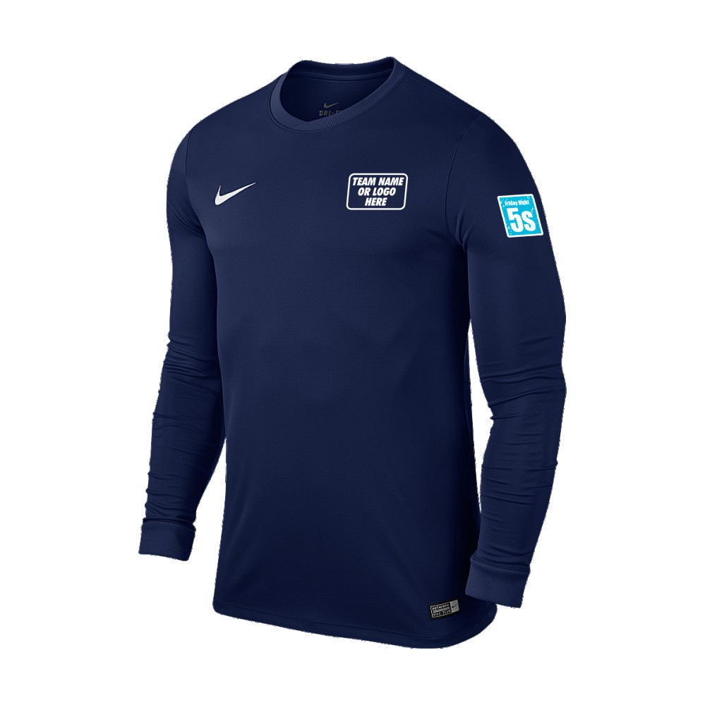 Friday Night 5's Nike Long Sleeve Park Shirt Midnight Navy