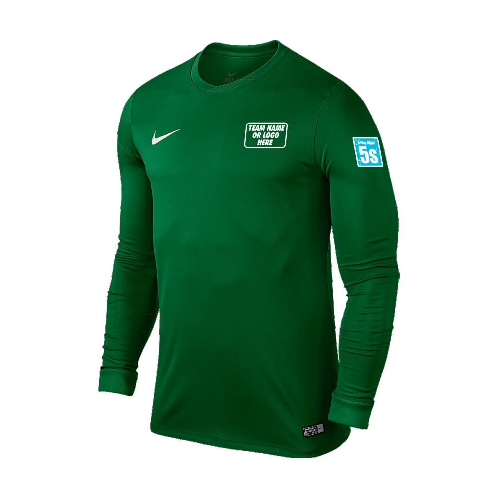 Friday Night 5's Nike Long Sleeve Park Shirt Pine Green