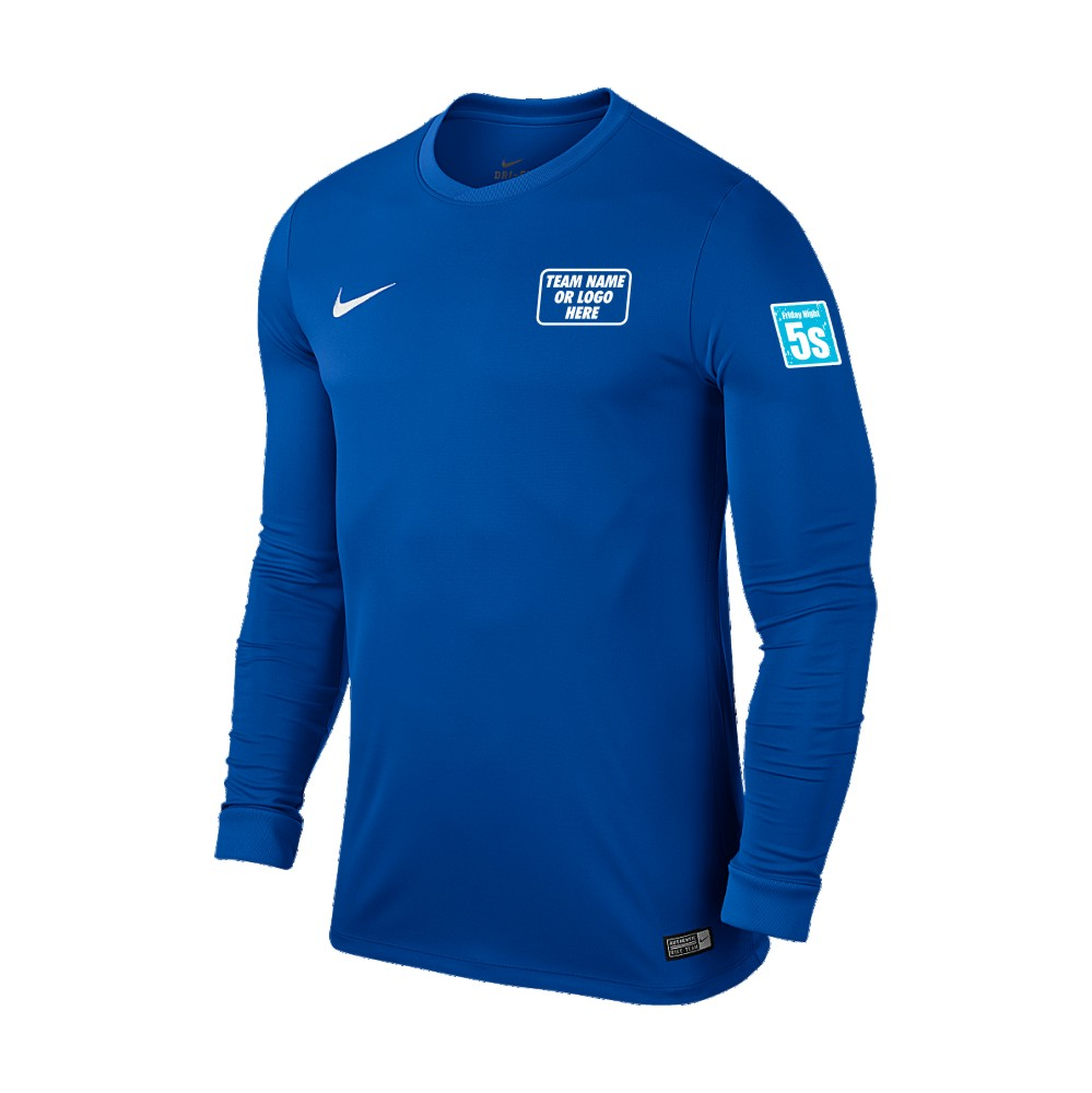 Friday Night 5's Nike Long Sleeve Park Shirt Royal Blue