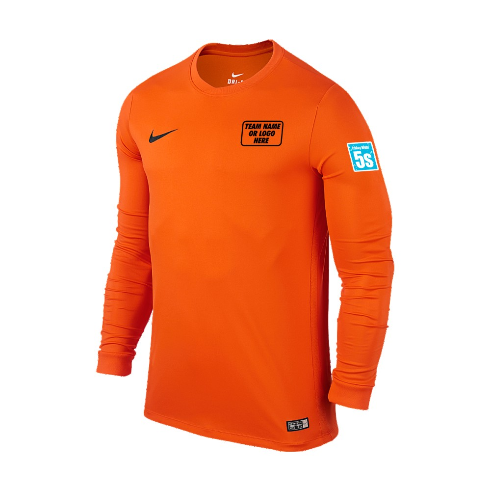 Friday Night 5's Nike Long Sleeve Park Shirt Orange