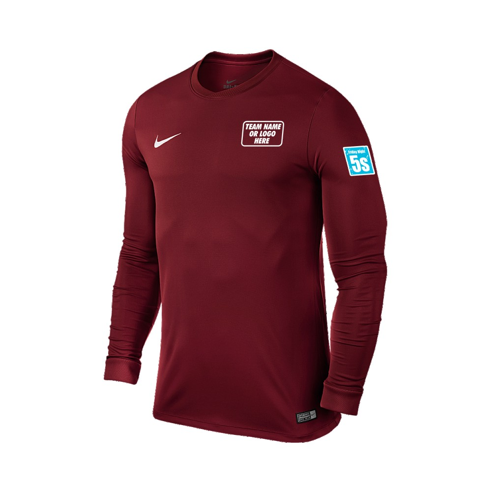 Friday Night 5's Nike Long Sleeve Park Shirt Maroon