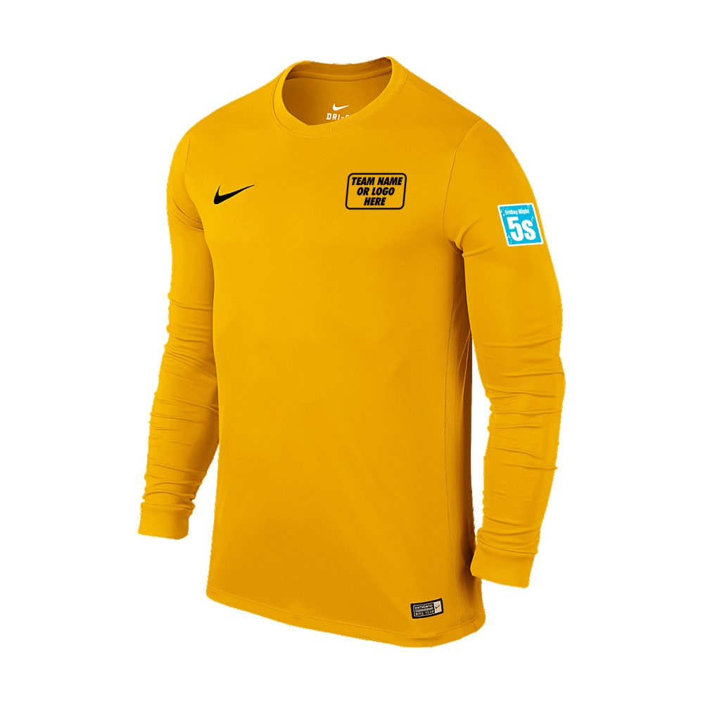 Friday Night 5's Nike Long Sleeve Park Shirt Yellow