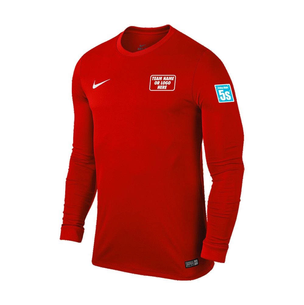 Friday Night 5's Nike Long Sleeve Park Shirt Red