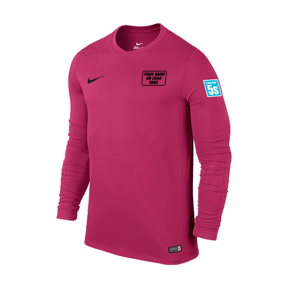 Friday Night 5's Nike Long Sleeve Park Shirt Pink