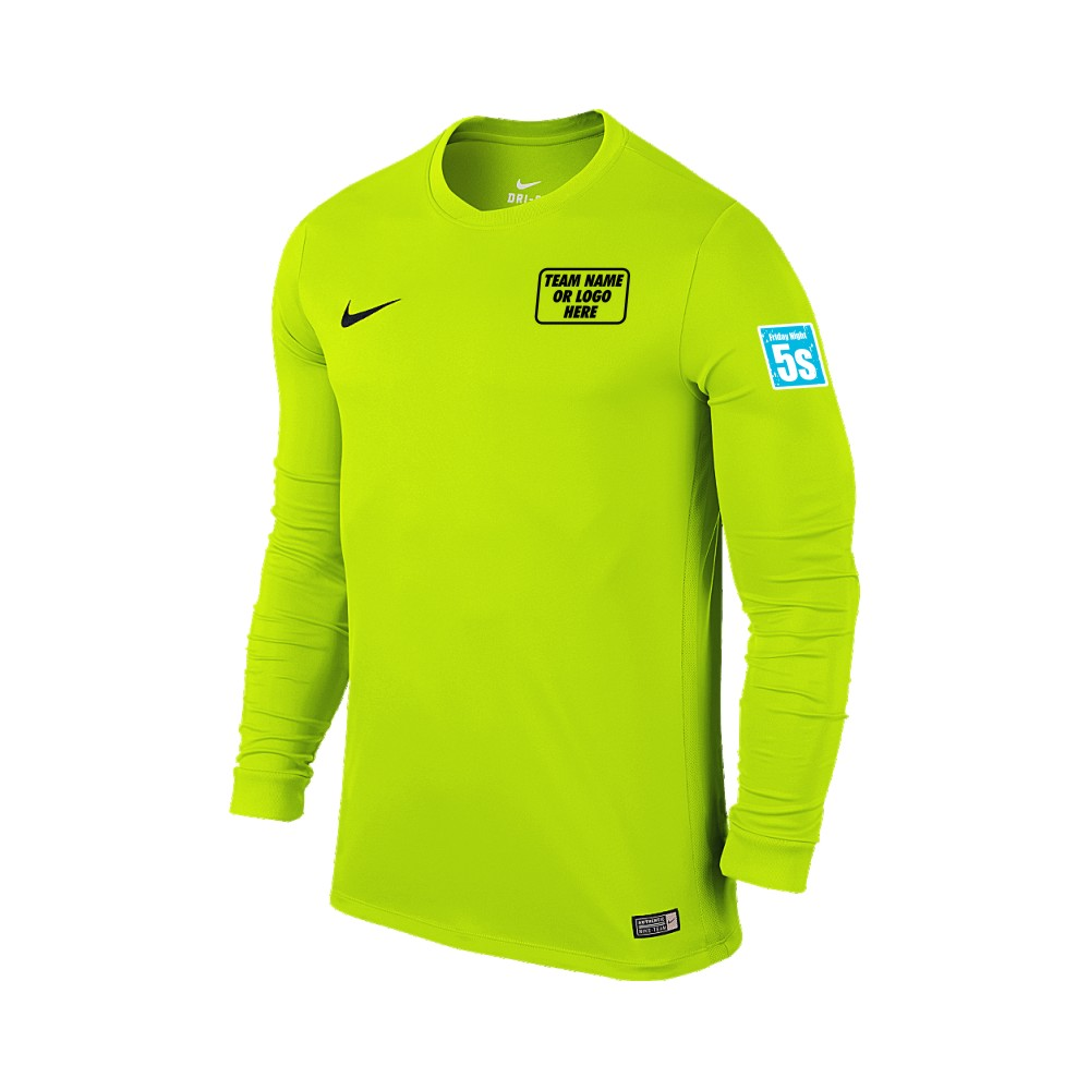 Friday Night 5's Nike Long Sleeve Park Shirt Volt