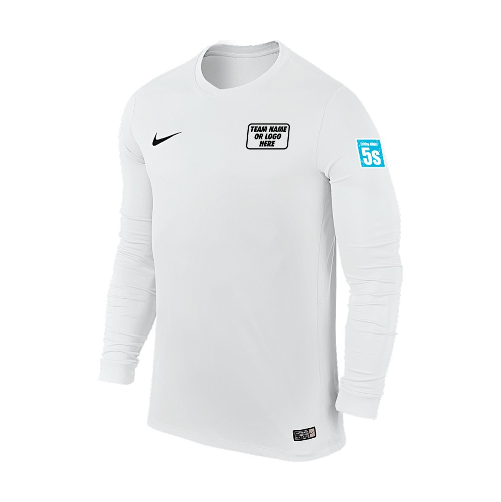 Friday Night 5's Nike Long Sleeve Park Shirt White