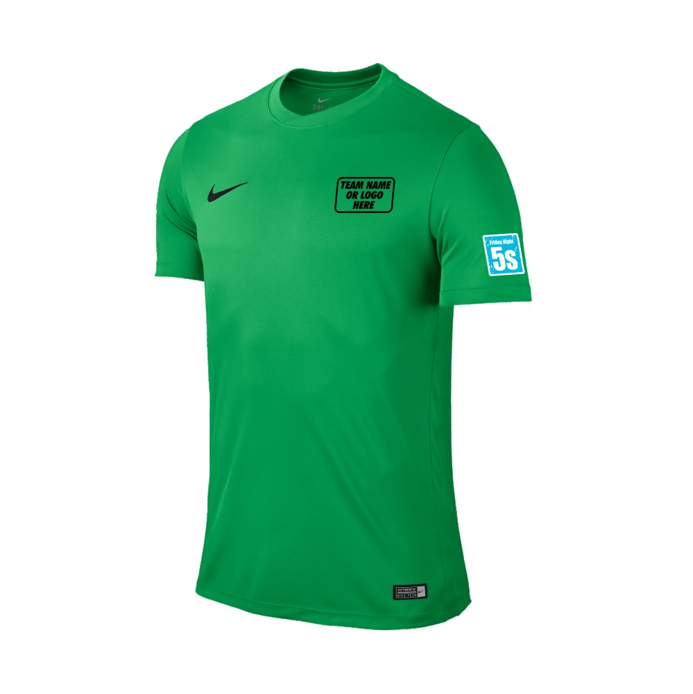 Friday Night 5's Nike Short Sleeve Park Shirt Hyper Verde