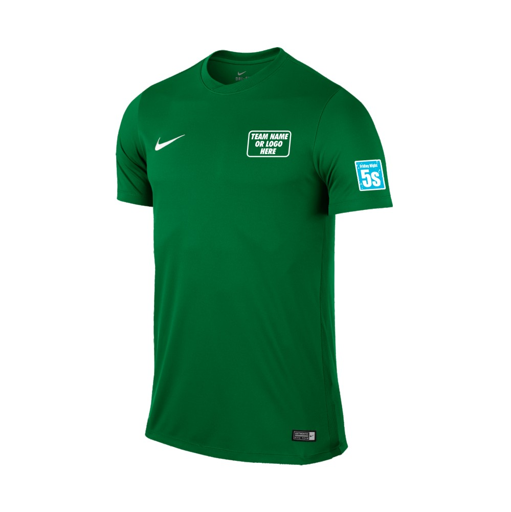 Friday Night 5's Nike Short Sleeve Park Shirt Pine Green
