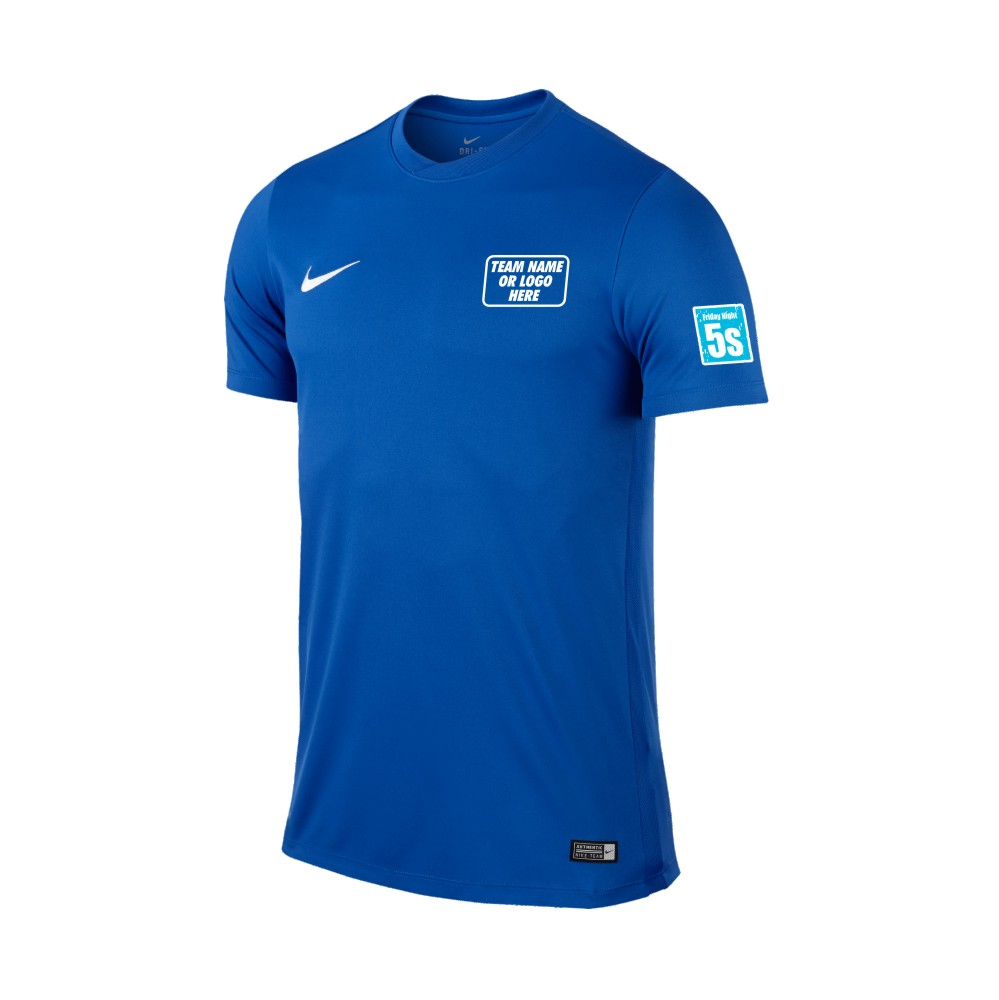 Friday Night 5's Nike Short Sleeve Park Shirt Royal Blue
