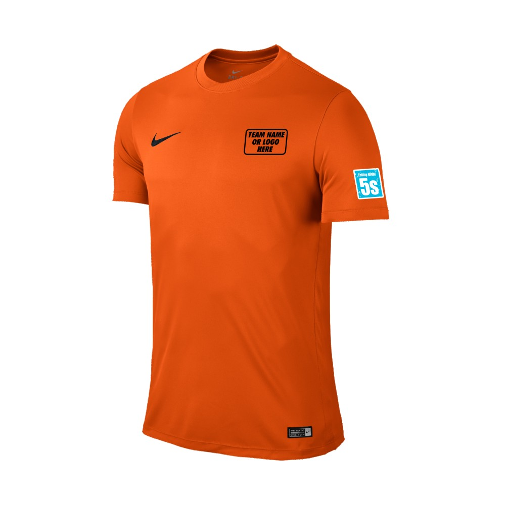 Friday Night 5's Nike Short Sleeve Park Shirt Orange