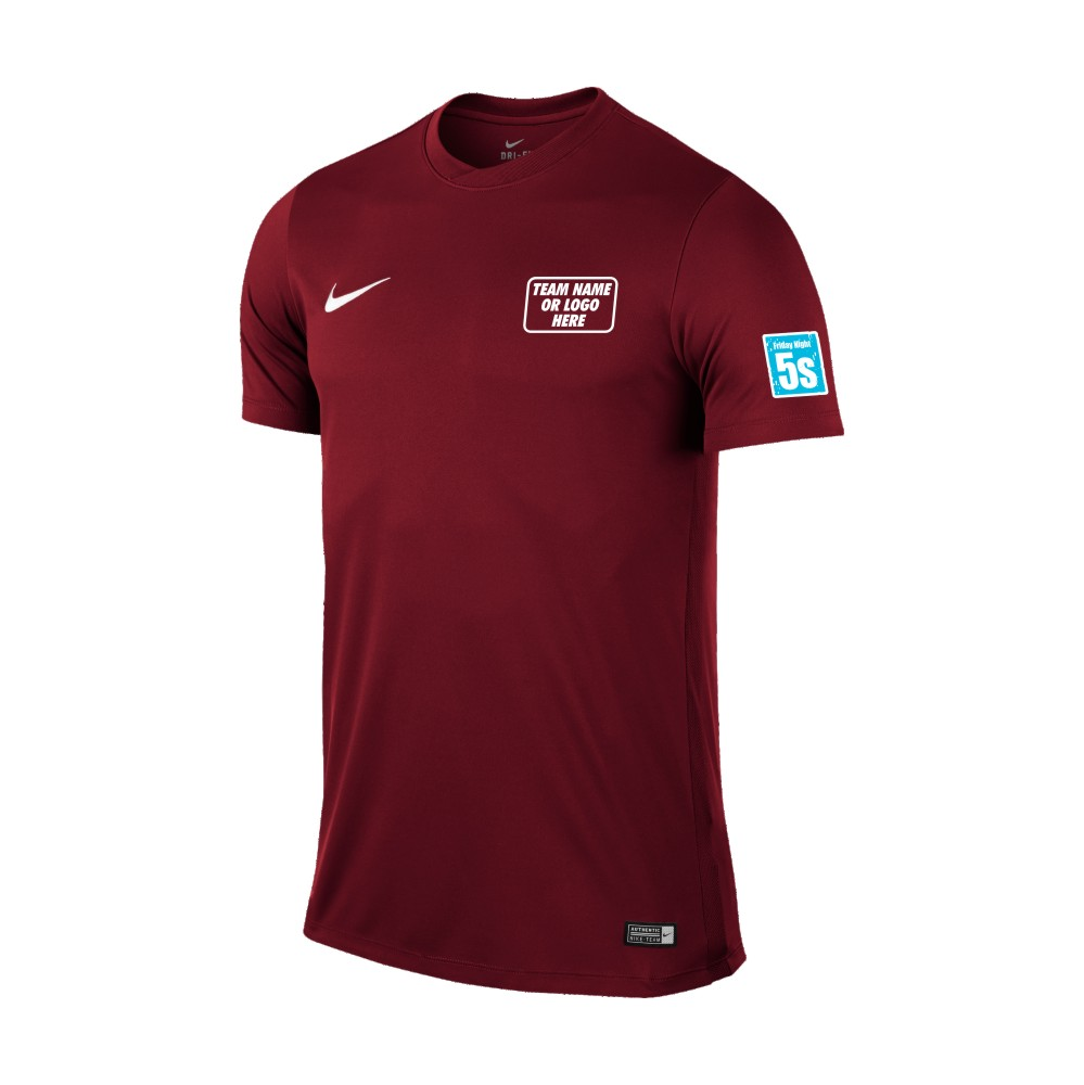 Friday Night 5's Nike Short Sleeve Park Shirt Maroon