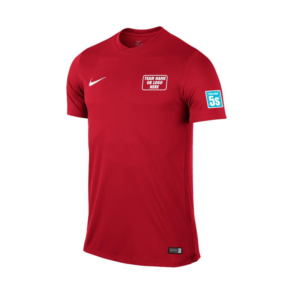 Friday Night 5's Nike Short Sleeve Park Shirt Red