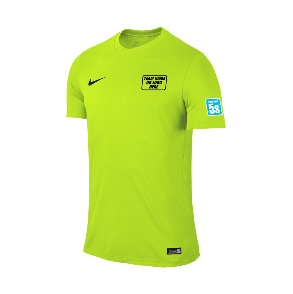 Friday Night 5's Nike Short Sleeve Park Shirt Volt