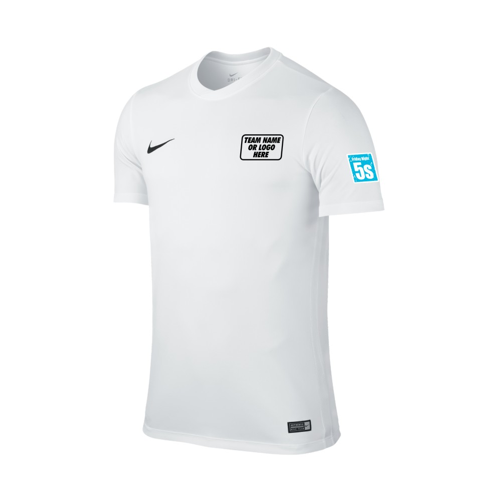 Friday Night 5's Nike Short Sleeve Park Shirt White