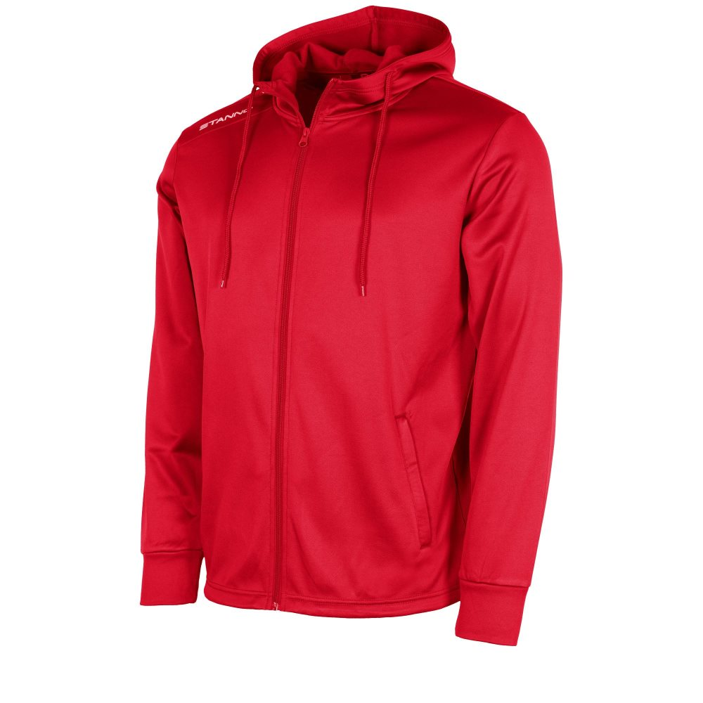 Stanno Field Hooded Tracksuit Top Red